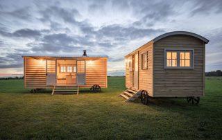 Green Down Shepherd Huts on Campsite