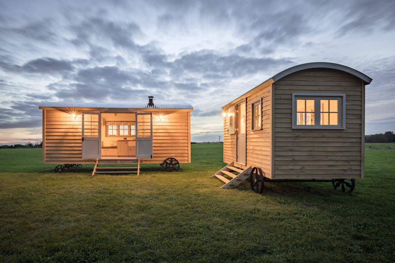 Green Down Shepherd Huts on Campsite